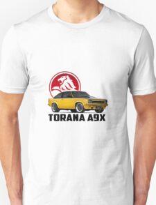 Holden Torana - A9X Hatchback - Yellow 2 Unisex T-Shirt
