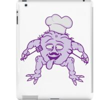 eat cook chef chef hat mustache mustache delicious horror halloween monster french chef restaurant iPad Case/Skin