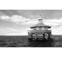 South Channel Beacon, Port Phillip Photographic Print
