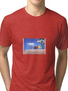 Spongebob on Land Tri-blend T-Shirt
