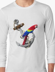 Parrot And Ship Anchor Long Sleeve T-Shirt