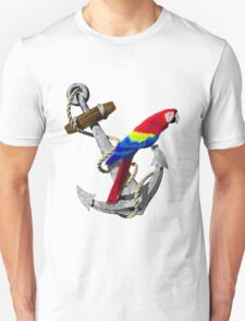 Parrot And Ship Anchor Unisex T-Shirt