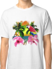 Parrot And Palm Trees Classic T-Shirt