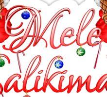 Mele Kalikamaka Tiki Sticker