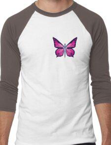 Ocean Butterflies Part 2 - Pale Pink Men's Baseball ¾ T-Shirt