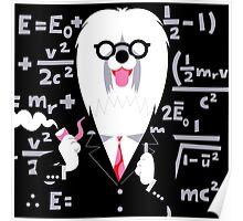 English Sheepdog as Einstein Poster