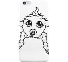 baby monster horror halloween monster ugly disgusting pacifier child girl boy funny iPhone Case/Skin