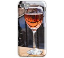 The Perfect Cocktail Hour Spot - a Glass of Wine With a Phenomenal View iPhone Case/Skin