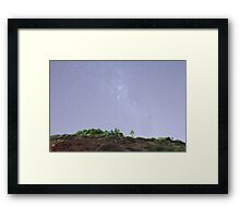 Marino Rocks under the Milky Way Framed Print