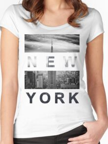 New York #1 Women's Fitted Scoop T-Shirt
