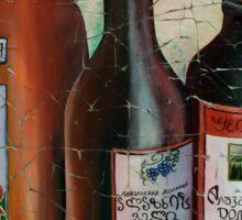 Georgian Wine Freco by Lena Owens/OLena Art Sticker