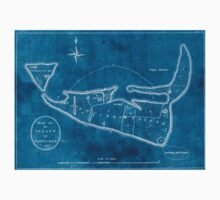 American Revolutionary War Era Maps 1750-1786 600 Map of the island of Nantucket Inverted Kids Tee