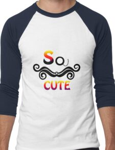So cute mustache Men's Baseball ¾ T-Shirt