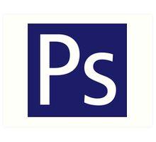 Ps - Photoshop Art Print