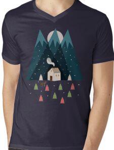 Winterworm Mens V-Neck T-Shirt