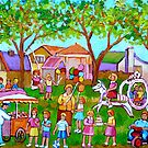 PAINTINGS OF CHILDREN ART FOR BOYS AND GIRLS CHILDHOOD SCENES KIDS AND TOTS PICTURES by Carole  Spandau