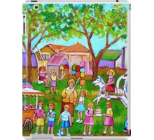 PAINTINGS OF CHILDREN ART FOR BOYS AND GIRLS CHILDHOOD SCENES KIDS AND TOTS PICTURES iPad Case/Skin
