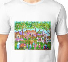 PAINTINGS OF CHILDREN ART FOR BOYS AND GIRLS CHILDHOOD SCENES KIDS AND TOTS PICTURES Unisex T-Shirt