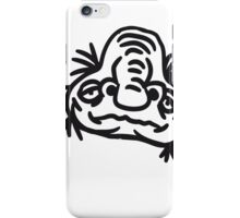 old opa face man ugly disgusting monster horror halloween comic cartoon funny iPhone Case/Skin