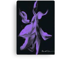 Purple Haze Abstract Floral Canvas Print