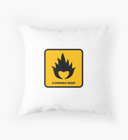 Flammable Heart Throw Pillow