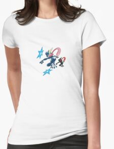 Double Greninja  Womens Fitted T-Shirt