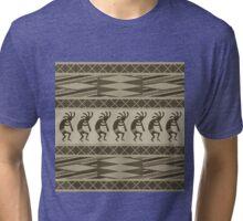 Tribal Kokopelli Pattern Tri-blend T-Shirt