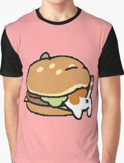 Neko Atsume Cheese Burger Graphic T-Shirt