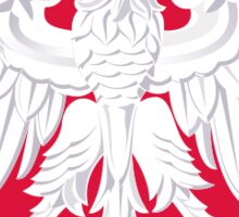Polish Eagle in red shield - Poland cote of arms Sticker
