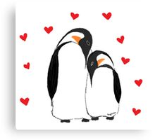 Penguin Partners - Vday edition Canvas Print