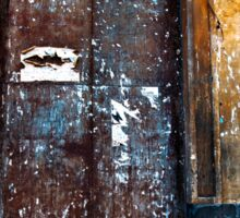 Old Sicilian Door of Catania Sticker
