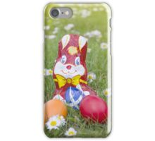 Wrapped Chocolate Bunny with Easter Eggs in the Grass Vertical iPhone Case/Skin