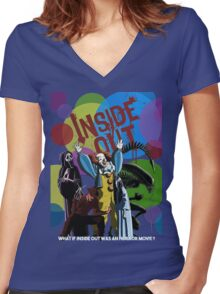 What if Iside Out was an horror movie? Women's Fitted V-Neck T-Shirt