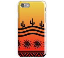 Southwest Desert Cactus Ombre Sunset iPhone Case/Skin