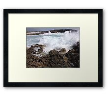 Waves Crash Framed Print