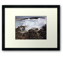 Waves Crash Framed Print