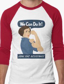 Leia The Riveter Men's Baseball ¾ T-Shirt