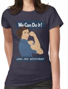 Leia The Riveter Womens Fitted T-Shirt