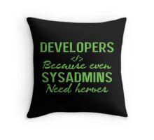 Developers hero Throw Pillow