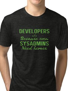 Developers hero Tri-blend T-Shirt