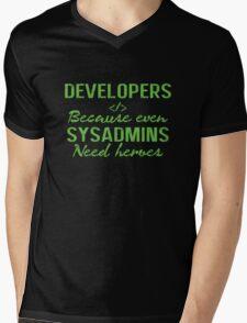 Developers hero Mens V-Neck T-Shirt