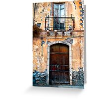 Sicilian Facade of Taormina Greeting Card