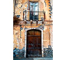 Sicilian Facade of Taormina Photographic Print