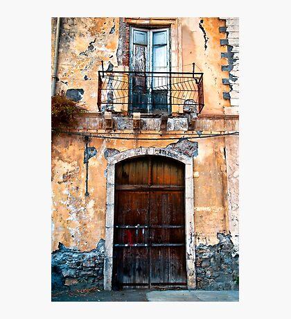 Sicilian Facade of Taormina Photographic Print