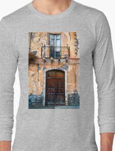 Sicilian Facade of Taormina Long Sleeve T-Shirt