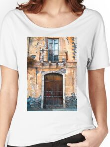 Sicilian Facade of Taormina Women's Relaxed Fit T-Shirt