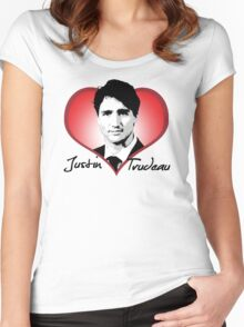 Justin Trudeau Women's Fitted Scoop T-Shirt