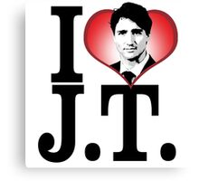 I Love Justin Trudeau Canvas Print