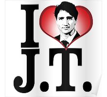 I Love Justin Trudeau Poster