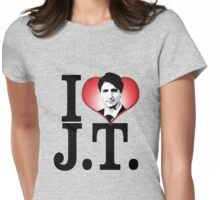 I Love Justin Trudeau Womens Fitted T-Shirt